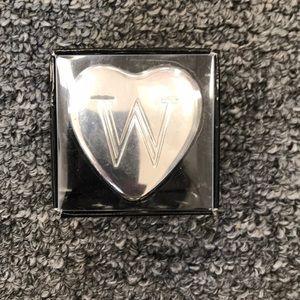 Accessories - Initial heart shape keepsake box